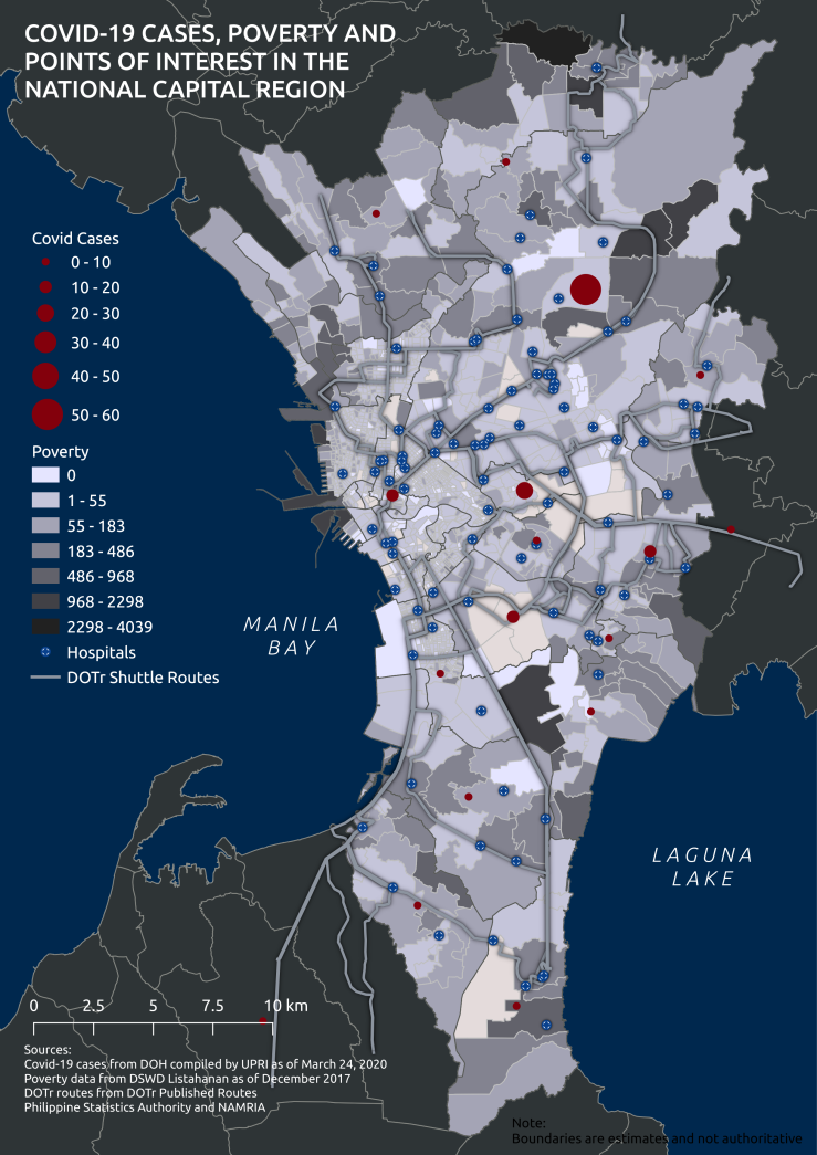 Map 1. NCR COVID Poverty POI 20200324