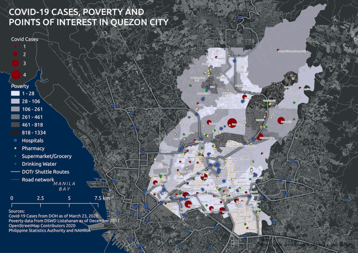 Map 2. QC Poverty and Covid Cases 20200323